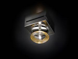 CAPRICCIO L 12×12, Lámpara de techo en cristal y metal cromado