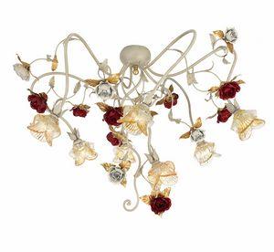 Claire PL/7, Lámpara de techo con flores decorativas