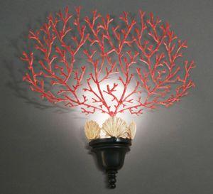 CORALLI HL1048WA-1, Lámpara de pared con decoración de coral rojo