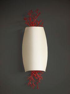 CORALLI HL1048WA-2, Lámpara de pared en hierro y coral rojo