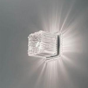 Cubetto La609-015, Aplique en forma de cubo en vidrio soplado
