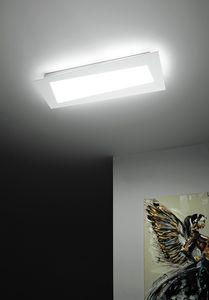 Debra Spigolo Rettangolo, Plafón con módulos LED integrados