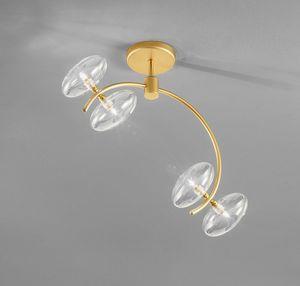 DOLCE L 50, Lámpara de techo de design con estructura de metal