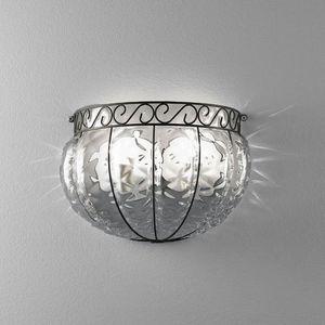 Harem Ma160-030, Lámpara de pared de estilo clásico, en metal y vidrio