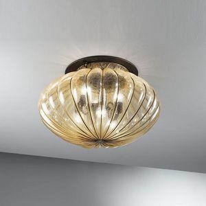 Harem Mc132-045, Lámpara de techo clásica en vidrio ámbar antiguo