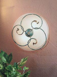 Lámpara de techo 2050/PL, Plafón en hierro, precio outlet.