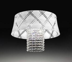 MEDUSA Ø 40, Lámpara de techo con colgantes de cristal tallado