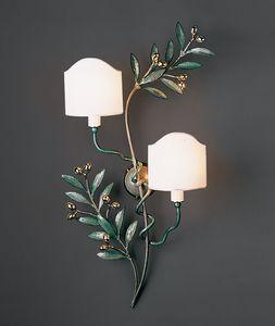 OLIVO HL1095WA-2B, Lámpara de pared en latón verde brillante