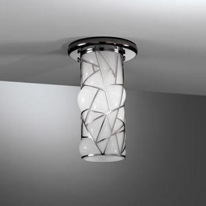 Orione Rc387-020, Lámpara de techo con forma cilíndrica