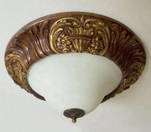Palazzo Reale Art. PLA07/Ø64, Plafón de estilo clásico, tallado