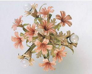 PL.4365/3, Lámpara de techo en vidrio con acabados florales