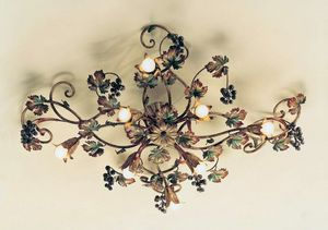 PL.5785/8, Lámpara de techo con decoración de otoño