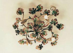 PL.5790/4, Lámpara de techo en hierro forjado, decoraciones de otoño