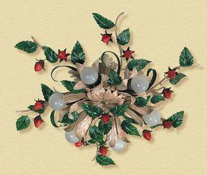 PL.6140/6, Lámpara de techo con fresas y hojas decorativas