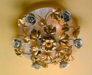 PL.6655/6, Lámpara de techo con decoraciones blancas antiguas