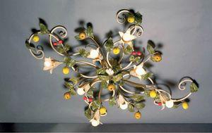 PL.7415/8, Lámpara de techo con decoraciones hechas a mano