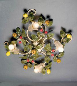 PL.7420/4, Lámpara de techo con hojas decorativas y fruta