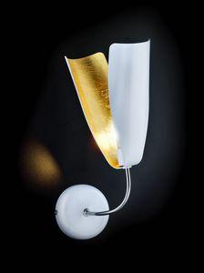 TROPIC L 8, Aplique en hoja de oro y metal