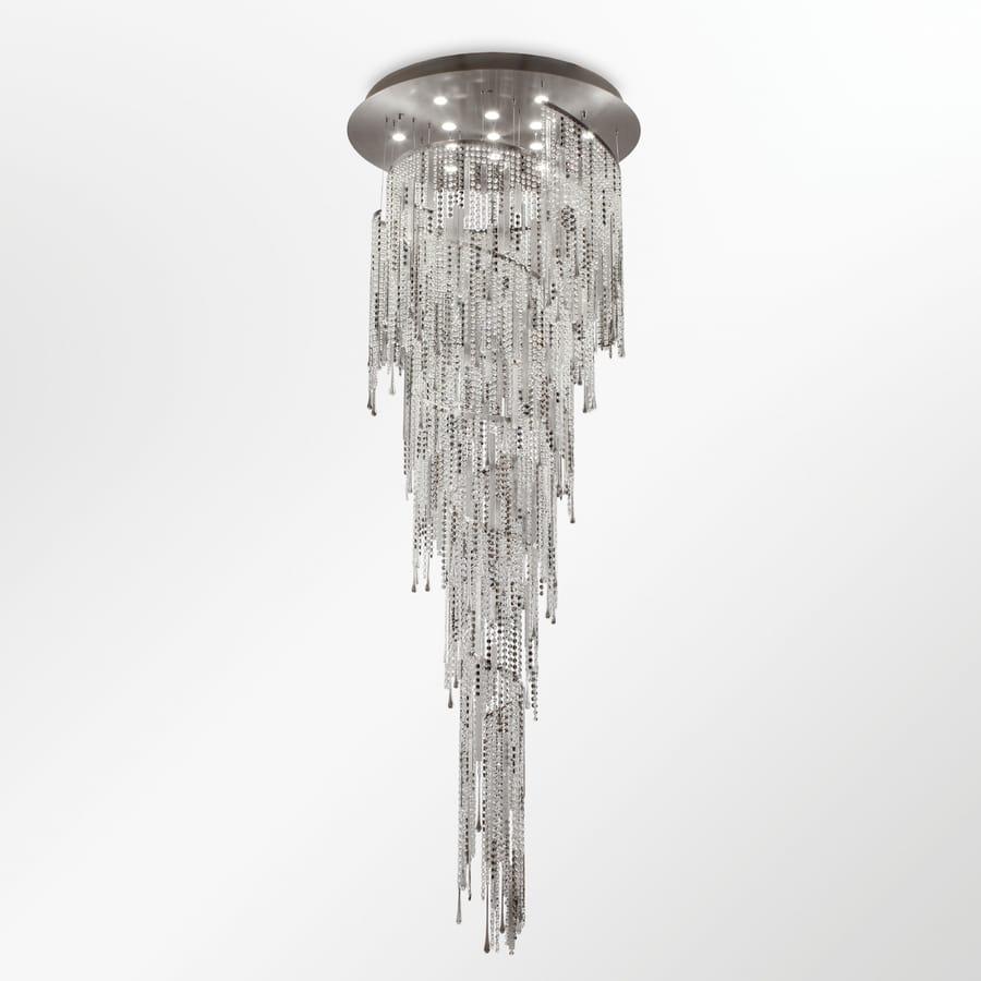Vanity PL7665-100×280-CDN1, Lámpara de techo con cascada de cristales