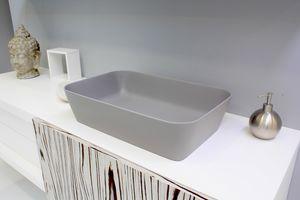 Color lavabo rectangular, Lavabo con cantos redondeados.
