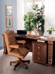 Modigliani silla de oficina, Sillón de oficina de cuero.