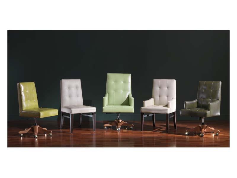 Star 2, Silla de oficina preciosa en estilo clásico, de muebles de lujo