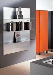 ALL comp.03, Estantes de aluminio para la cocina, en un estilo lineal