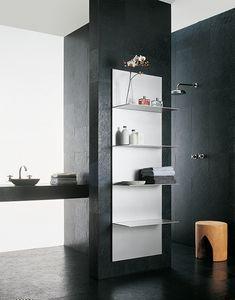ALL comp.04, Estantes en aluminio extruido, diferentes acabados, para el baño