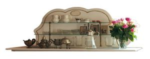 Christine BR.0702, Estante de placa de laca con 2 estantes, acabados de cobre