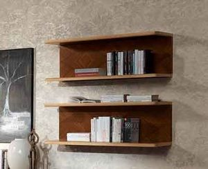 LB40 Desyo, Estante de madera de nogal y arce, para las casas clásicas