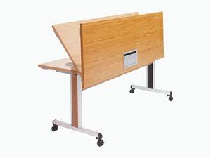 Configure-8 Flip Top, Mesa plegable con ruedas para salas de conferencias