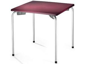 Table 80x80 cod. 23/I, Mesa apilable con tablero cuadrado, para el lado exterior