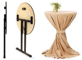 Ctl, Mesa plegable con tapa de madera para la restauración