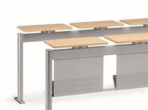 KOMPACT 880, Mesa met�lica modular, ideal para aulas