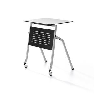 Pitagora, Tabla con capota plegable, apilable horizontalmente, para el aula y sala de conferencias
