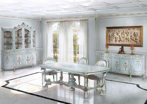 206, Comedor lacado blanco, para la sala de estar