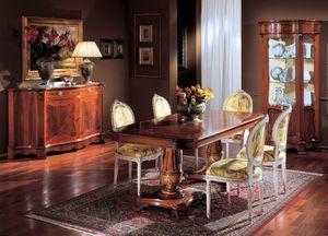 3190 TABLE, Incrustaciones de mesa de madera, con 2 camas, salas de estar para los clásicos