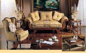 3285 SMALL TABLE, Mesa de centro tallada a mano de lujo clásicos salas de estar