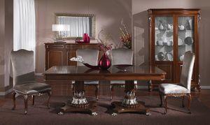3625 MESA, Mesa de lujo tallada a mano, estilo clásico