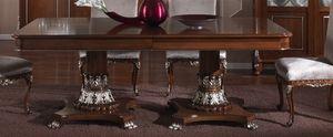 3625 TABLA, Mesa rectangular con tapa de incrustaciones, para el comedor