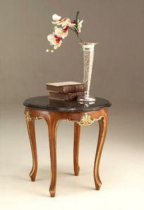 6524 mesa pequeña, Mesa de centro de estilo clásico con encimera de mármol
