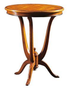 Adriano FA.0113, Decò mesa con tapa redonda en madera con incrustaciones