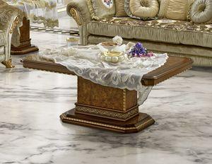 Aida coffee table, Mesa de centro elegante para salas de estar clásicas