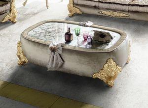 Amina mesa de centro, Mesa de centro acolchada clásica