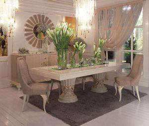 Art. 100, Mesa rectangular de lujo clásico comedor