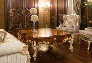 Art. 1054, Mesa de centro de lujo, tapa hecha de madera de olivo