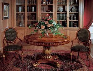 Art. 1112, Mesa redonda de madera con incrustaciones para los comedores