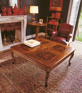 Art. 1178, Mesa decorada a mano,, diseño clásico tallado a mano