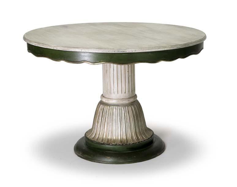 Art.140 dining table, Mesa de estilo clásico con columna central