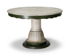 Art.140 dining table, Mesa de estilo cl�sico con columna central